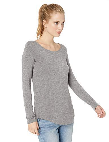 Daily Ritual Women's Jersey Long-Sleeve Scoop Neck Tunic, Light Heather Grey, X-Large