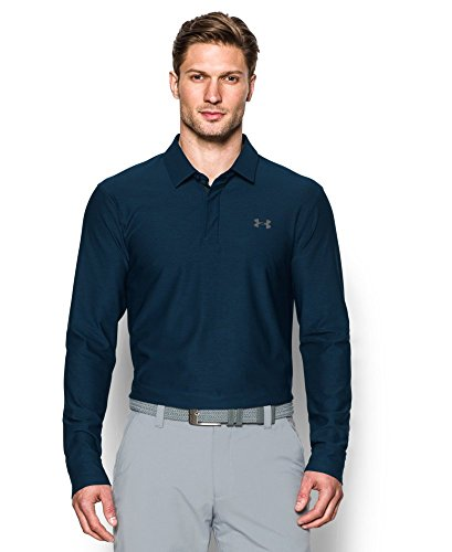 Off Under Armour (Under Armour Men's Playoff Long Sleeve Polo, Academy (408),)