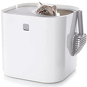 Modkat Litter Box Kit Includes Scoop and Reusable Liner - White