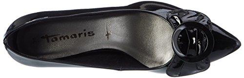 Tamaris 22453, Zapatos de Tacón para Mujer Negro (BLACK PATENT 018)