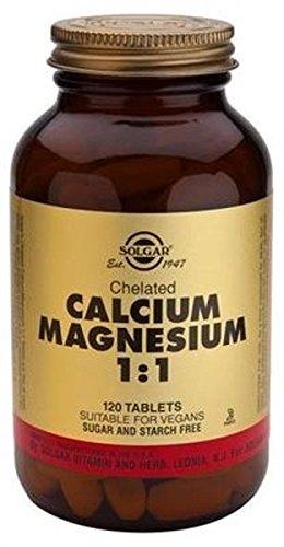Calcio Magnesio Quelado 1:1 120 comprimidos de Solgar: Amazon.es: Salud y cuidado personal