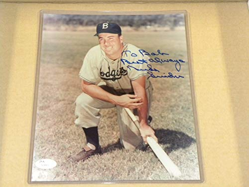 Duke Snider Hand Autographed Signed 8x10 Photo Brooklyn Dodgers - JSA Authentic Memorabilia