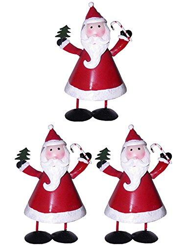Papai Noel Natal Kit Com 3 Uni Decoracao Enfeite (NA-07 PAPAI NOEL)