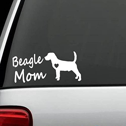 Beagle Dog Sticker - Bluegrass Decals L1014 Beagle Mom Dog Breed Decal Sticker