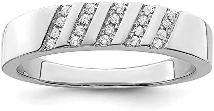 Ice Carats 925 Sterling Silver Cubic Zirconia Cz Mens Band Ring