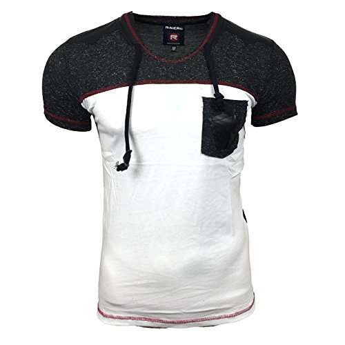 Herren Shirt Hemd Größe SMLXXL Slim Fit Brusttasche Figurbetont T-Shirt Polo NEU, Größe:M, Farbe:Schwarz
