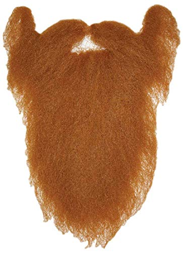 (Mens Ladies Ginger Leprechaun or Black Beard Hair Moustache Funny Fancy Dress Costume Outfit)