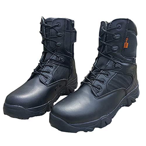 Traspirante Nero Desert Boots Tattici Invernali Stivali Stivali Armatura Invernali sotto E Cowhide Uomo Leggero Pattuglia Stivali Autunnali Black ZRX0q6R
