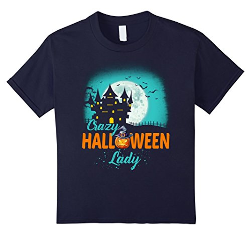 unisex-child Crazy Halloween Lady T Shirt Costumes For Women 12 (4th Of July Halloween Costume Ideas)