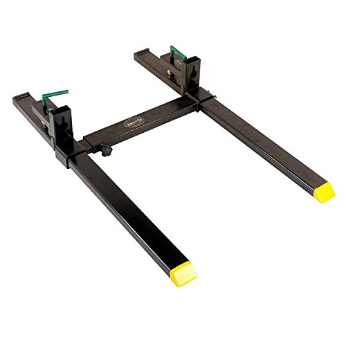 Titan Clamp on Heavy Duty Pallet Forks and adjustable Stabilizer Bar for loaders