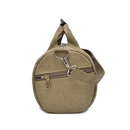 OOLIFENG Los hombres y las mujeres bolsa de mensajero portátil bolsa de lona resistente , brown Khaki
