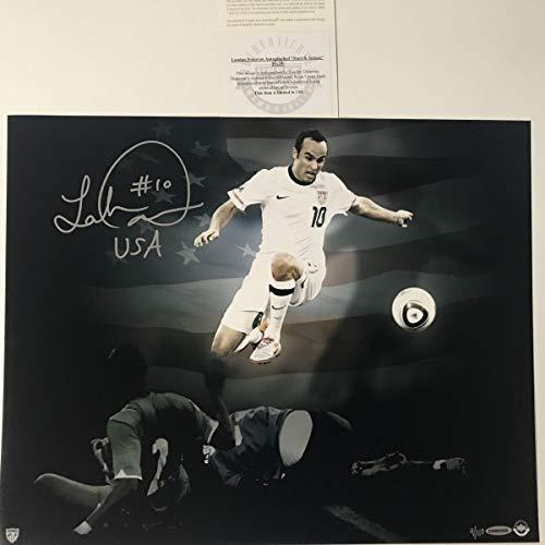 Autographed/Signed Landon Donovan Team USA World Cup USWNT 16x20 Soccer Photo Upper Deck UDA COA