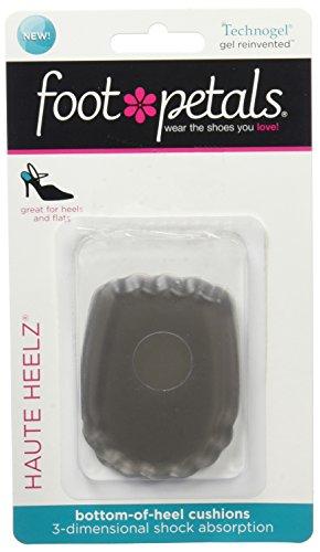 Foot Petals Women's Haute Heelz Heel Cushion, Charcoal, No Size M US (Foot Petals Heavenly Heelz)