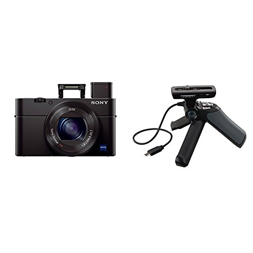 """Sony Cyber-shot DSC-RX100 III Digital Still Camera with OLED Finder, Flip Screen, WiFi, and 1"""" Sensor and GPVPT1 Grip…"""