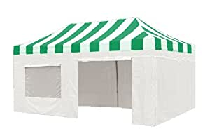 10' X 20' PRO Easy POP up Wedding Canopy Party Tent Gazebo Event Tent with Side Walls and Roller Bag,Kelly|White