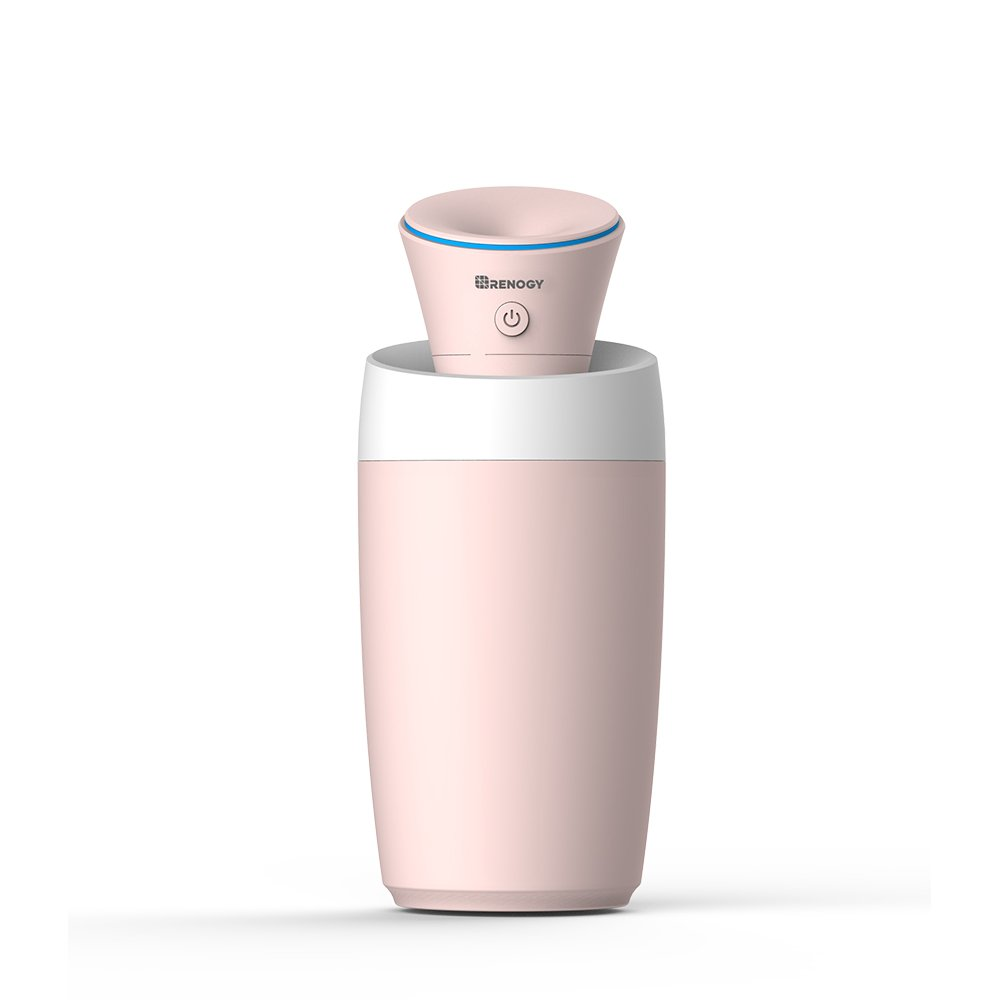 Renogy Mini Humidifier Portable Small Light with USB Cold Mist Silent Safe Automatic Shutoff Easy to Clean for Bedroom Baby Room Office Car Yoga Spa