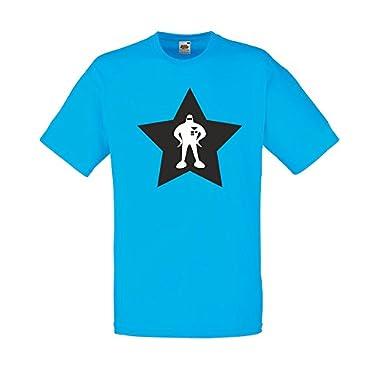 Starman, Earthbound!, Mens Printed T-Shirt - Azure/Black/White 2XL