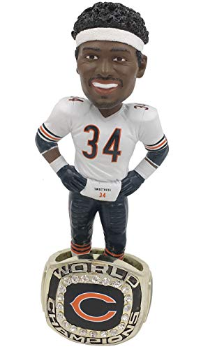 Walter Payton (Chicago Bears) 1985 Super Bowl Championship Ring Base Bobblehead Exclusive #750