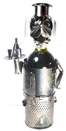 Cheap NEW! Dog Waiter Wine Bottle Holder – 100% Recycled Metal