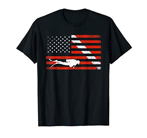 Diver Down Dive Flag TShirt Scuba Diving American ()
