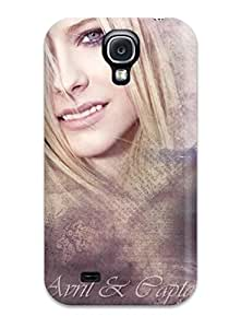 Rugged Skin Case Cover For Galaxy S4- Eco-friendly Packaging(avril Lavigne)