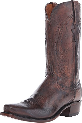 Mens Peanut Brittle (Lucchese Bootmaker Clint Antique Peanut Brittle Mad Dog Mens Boots N1657.73-Brown-8.5-D)