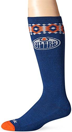 fan products of NHL Edmonton Oilers Women's SP17 Diamond Knee High Socks, Blue, One Size