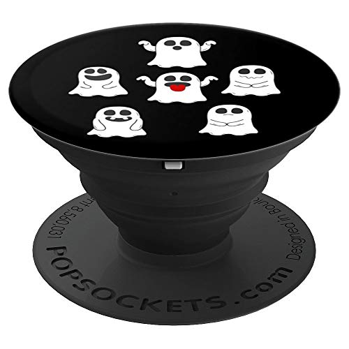 popsockets grip Emoji Cute family ghosts Face Halloween - PopSockets Grip and Stand for Phones and Tablets