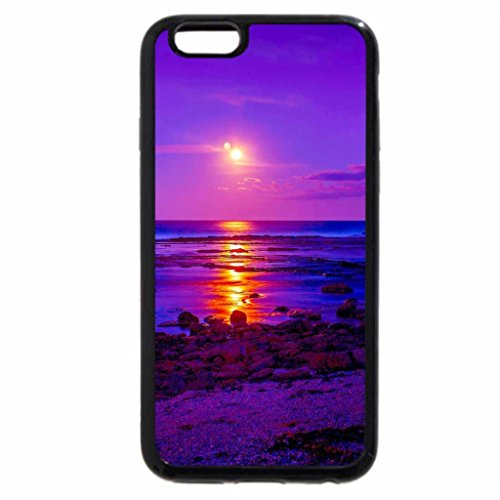 iPhone 6S / iPhone 6 Case (Black) MOONLIGHT HORIZON
