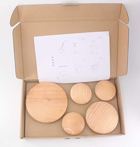 Pratico ambiente sano e sicuro super puntini in legno appendiabiti 17cm*1pcs 13cm*1pcs 9cm*3pcs Green.