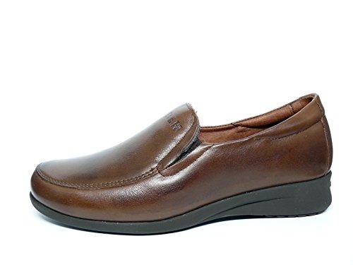 PITILLOS Damen Schuhe komfortabel Mokassin, erhältlich in schwarz und Farbe Marron–�?400–�? Braun