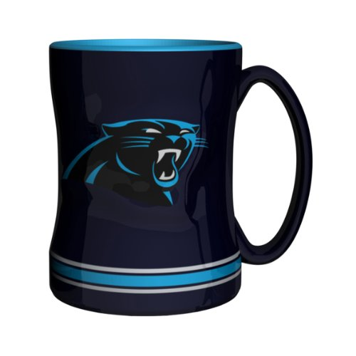 (NFL Carolina Panthers Sculpted Relief Mug, 14-ounce, Panther)