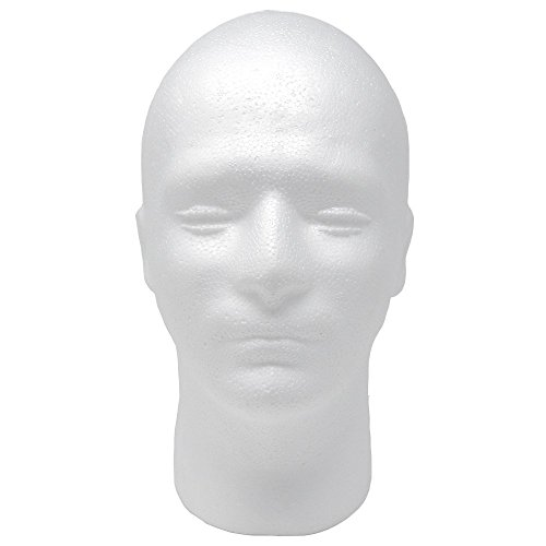 Male Styrofoam Foam Mannequin Head 11