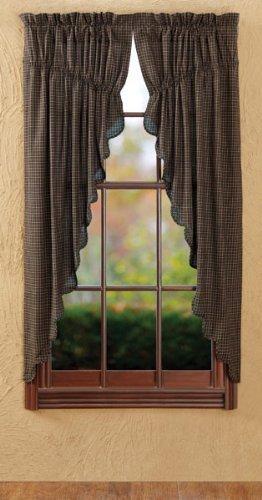 Kettle Grove Plaid Prairie Curtain Set 63''x36'' by VHC Brands