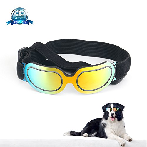 TDCYHHX Dog Goggles -New Version Cool Dog Goggles Pet Sunglasses Eye Wear Small Dog Sunglasses Waterproof Windproof UV Protection Cat for Doggy Puppy (Multi-Colored) from TDCYHHX