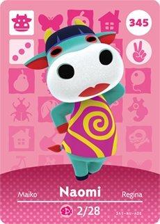 Naomi 345 - Tarjeta Amiibo de Nintendo Animal Crossing Happy ...