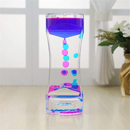 Liquid Motion Timer Bubbler Best Sensory Toy for Relaxation, Liquid Motion Timer Toy Floating Color Mini Lava Lamp Timer
