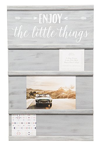 Gallery Solutions Little Things 13.75X21.75 GREYWASH Sliding Collage Frame, Grey