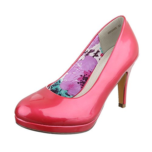Ital-Design WoMen Plateau Red Pink
