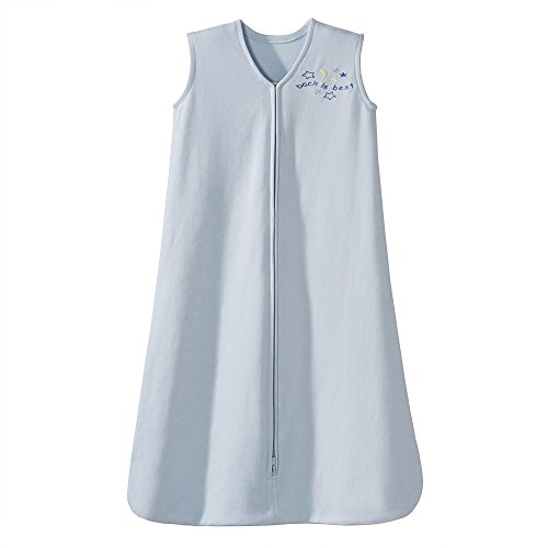 HALO Sleepsack 100% Cotton Wearable Blanket, Baby Blue, Medium