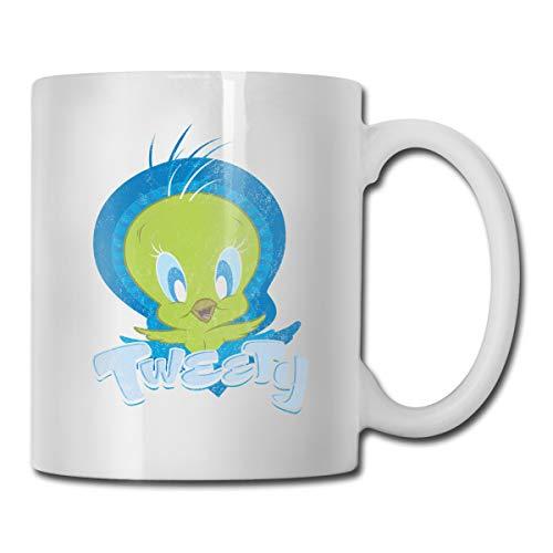 Jancastemi Looney Tunes White One Size Fun Cups Coffee Travel Mug for Men & Women