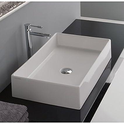 Rectangular Vessel Bathroom Sinks. Teorema Rectangular Vessel Bathroom Sink