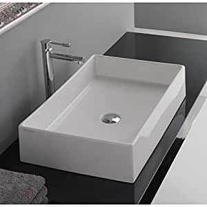 Teorema rectangular vessel bathroom sink for Are vessel sinks out of style