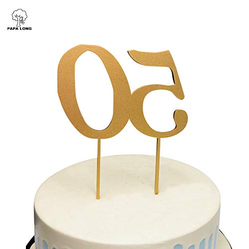 PAPA LONG Design Happy 50th Wood Cake Topper For Birthday Anniversary Retired Party by PAPALONG (Image #2)