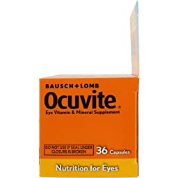 Bausch & Lomb Ocuvite Lutein Capsules 36 Capsules (Pack of 2)