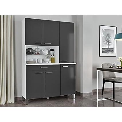 Credenza Cucina Con Piano Di Lavoro.Eco Credenza Da Cucina Con Piano Di Lavoro 120 Cm Bianco