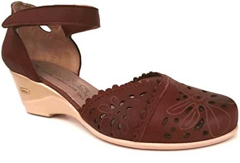OGSwideshoes Giulia Brown Extra Wide Fit Sandal 3E C D Width