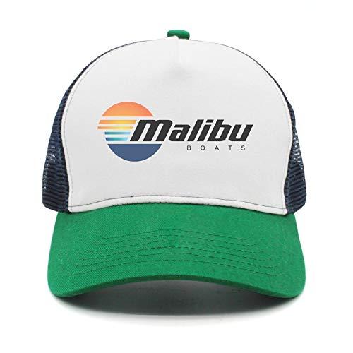 Malibu Hat - Fashion Cap Adjustable Malibu-Boats-Vector-Logo-Simple-Black- Green Designer Baseball Hat