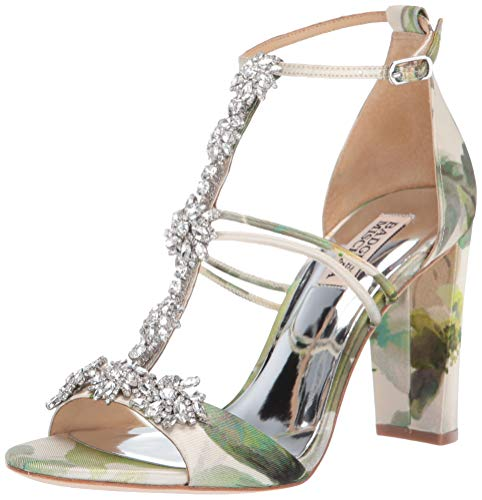 Badgley Mischka Women's Laney Heeled Sandal, Floral Multi, 10 M US