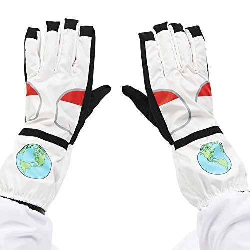 White Astronaut Adult Gloves (Astronaut Mask)